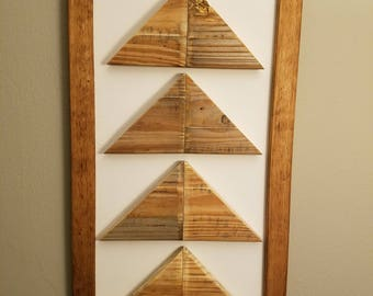 Reclaimed wood arrow wall decor