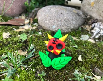 Masklings, Maskling, kiwikoioriginals, collectable, sculpture, polymer clay, adorable, nature, garden, limited edition, handmade