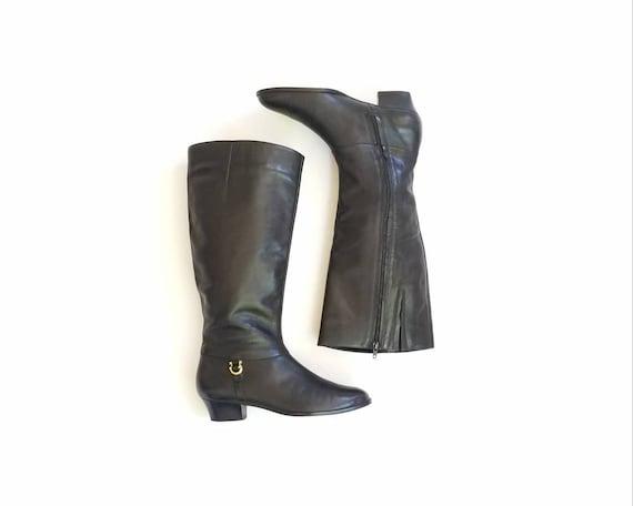 0c35a0f93eafa Campus Style Black Boots Boots Vintage Womens Boots Tall Boho Flex ...