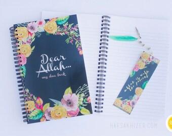 Islamic Journal, islamic Notebook, Dua Journal, Dua Book, Dear Allah, islamic wedding, islamic gift, Eid Gift, Islamic Stationary, birthday