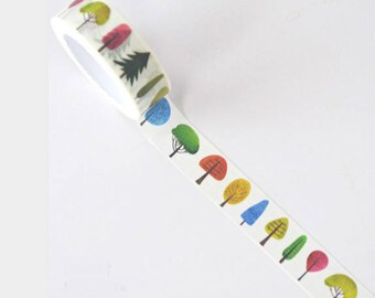 Washi tape tree - roll of washi tape with trees