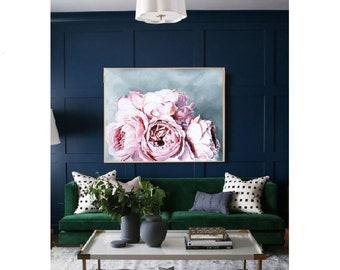 Beautiful painting camelia, flowers, rose art, painting, eco,pink, handmade