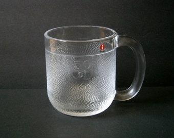 3 Available - Iittala Finland Krouvi Glass Mug Oiva Toikka 50cl