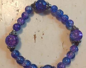 Purple/blue bracelet