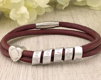 Personalized Graduation Bracelet - Graduation gift for her - Personalized Leather Bracelet for Women - Personalized bracelet for Graduation