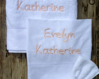 Baptism/Christening Undergarments Set for Girls, Personalized with Name