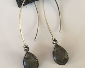 KBD Laborodite Drop Earring with Sterling Silver Wire