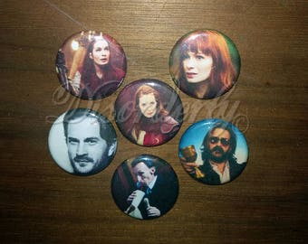 """1"""" Charlie, Gabe, and Death Buttons"""