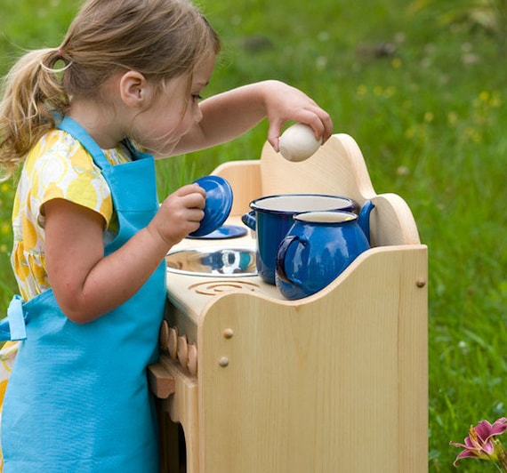 Jugar a juego de madera natural cocina-Waldorf Montessori