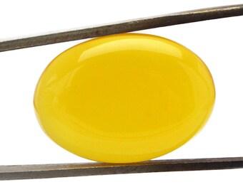 Yellow Onyx Cabochon Stone (25mm x 18mm x 6mm) - Oval Cabochon - Gemstone Cabochon