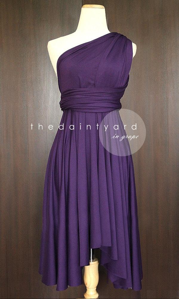 Grape Bridesmaid Dress Convertible Dress Infinity Dress