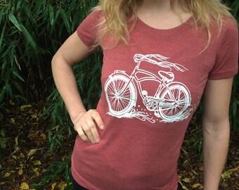 Womens Cruiser Bike T-shirt