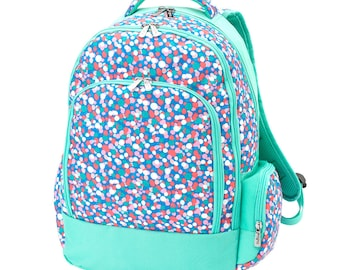 Confetti Pop Back Pack, Name or Monogram FREE