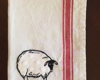 Minky appliqued Sheep