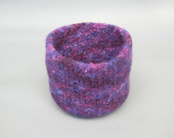 Purple Wool Felted Bowl
