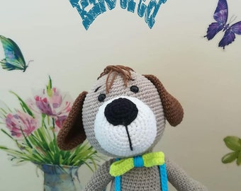Crochet dog toy Baby Toy Handmade toys for kids and baby For boys and girls Amigurumi