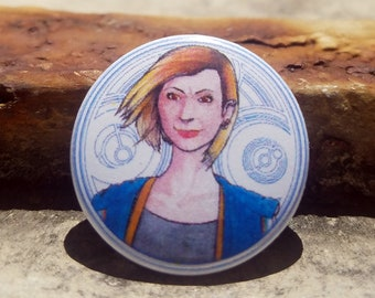 CWA Dr Who Jodie Wittaker 1 inch Button
