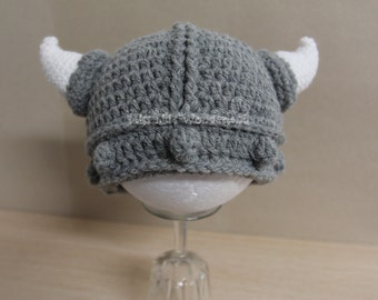Crochet baby hat, Crochet Beanie, Baby viking hat, Baby boy hat, Newborn hat, Made to Order photo prop