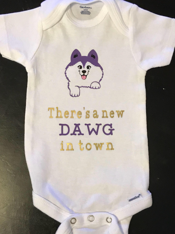 UW Huskies baby Body Suit Infant Body Suit Baby Shower Gift