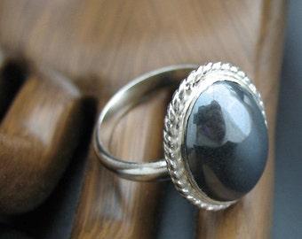 Gemstone ring, Sterling Silver Gemstone Ring, Handmade Sterling Silver Ring, Oval Gemstone Ring