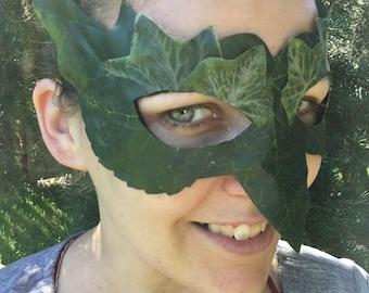 Leaf Mask Woodland Faerie Costume Fantasy Fairy Green Man