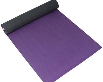 Sol Living Purple Natural Rubber Yoga Mat, Sturdy, Extra Thick Premium Non-Slip Yoga Mat - Meditation, Pilates 24x72 Inches FREE SHIPPING!
