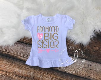 Big Sister Shirt - Big Sister To Be Shirt - Sibling Shirt - Promoted To Big Sister Shirt - Big Sister Shirts - Big Sister Tee