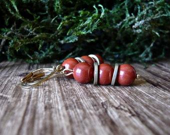 Natural red Jasper earrings