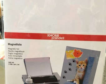 Magnetic sheet for jet d printer ink to customize
