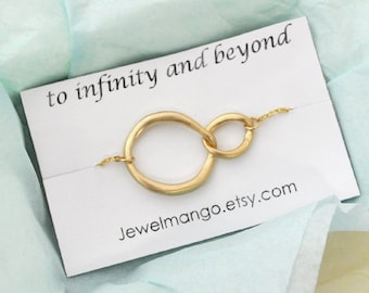 Gold infinity Necklace, everyday Necklace, infinity jewelry, everlasting lover, enternity, gift for BFF
