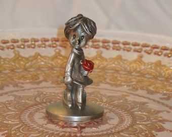 Mommy's Little Girl Pewter Figurine / Big Shoes To Fill /  Fairy Garden Decoration