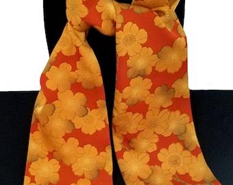 Kimono Scarf S8525 - mustard blossoms
