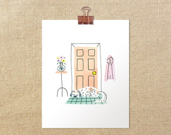 "Home Sweet Home // 5x7"" 8x10"" Shih Tzu Dog Giclée Art Print"