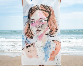 Beach towel- Blue eyed girl