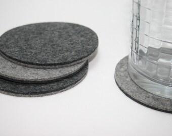 Round Coasters 5MM Thick Merino Wool Felt Coasters for Drinks Coaster Set
