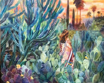 Golden Hour Cactus Girl