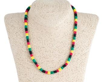 Rasta Puka Shells Necklace