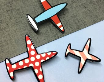 Come Fly With Me Airplane Brooch