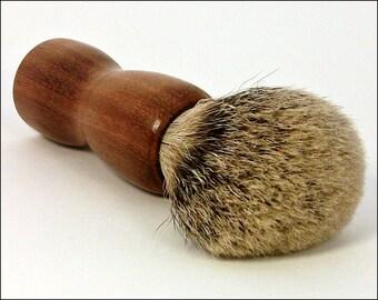 Shaving Brush, Silvertip Badger Hair Wooden Brush. Mora Wood Shaving Brush. Shaving Brush Handle. Shaving Kit. Groomsman Gift.