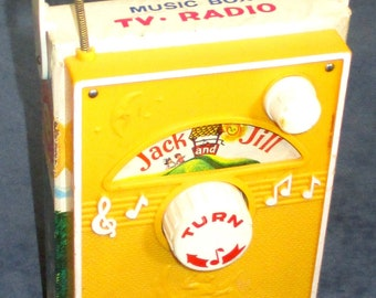 Fisher-Price Toy 155 Jack & Jill TV Radio 1968-70