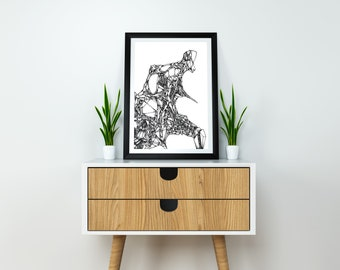 New Age Ink Drawing, Art Print. A5, Original art, Black and white art, Abstract, Ink Illustration, Fine art, Pen and Ink, Original drawing