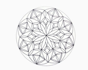 Printable Mandala Coloring Page, Instant Download- Page 1