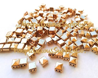 100pc 6mm Square Pyramid Spike Studs. Silver,Gold,Brass,or Gun Metal.Sew.Glue.String. FAST Shipping from USA w/ Tracking 4 Domestic Orders.