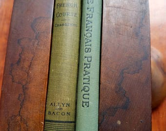 """Two 1900 French text books. """"Chardenal's Complete French Course"""" & """"Le Francais Pratique"""" Paul Bercy. Some pencilled notes. Books in French."""