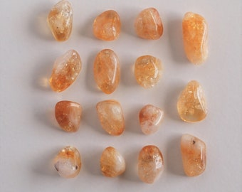 Tumbled Citrine Gemstone - Brazilian Citrine - Tumbled Stone - Polished Stone, 15 pieces