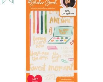 American Crafts - Amy Tangerine - Designer Sticker Book - 1487 Stickers - Planner Stickers, Value Sticker Book
