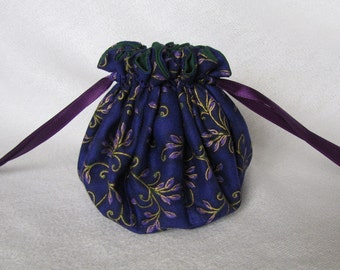 Drawstring Jewelry Tote - Medium Size - Bag for Jewelry - Fabric Tote - FANCY PANTS