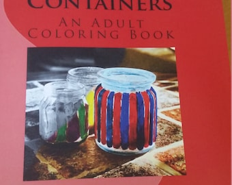 Digital Download | Grayscale Jars and containers coloring book |  Adult Coloring pages