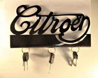 Document with lettering CITROEN key hook holder