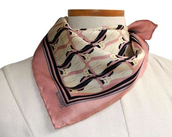 Cat Pocket Square / Pink Cat Pocket Square / Cat Silk Scarf / Pink Pocket Square / Silk Pocket Square / Cat Neckerchief